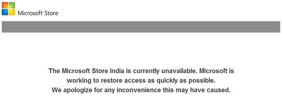 Microsoft Store India Hacked Website Current Status