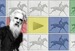 Google Honors Eadweard J Muybridge with Animated Doodle