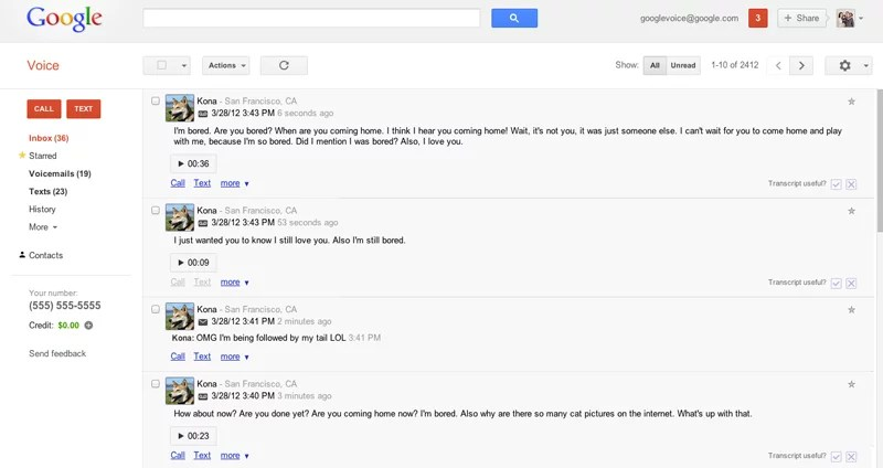 Google Voice for Pets - April Fool