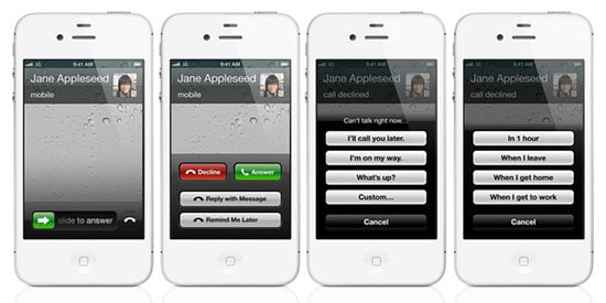Apple iOS6 featuring Improved phone app