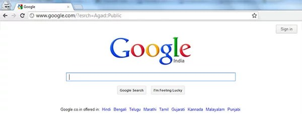 Google top Menu bar removing hack