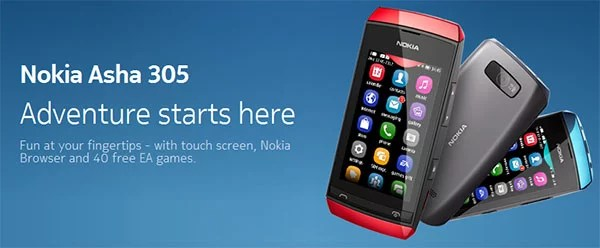 Nokia launches Asha 305 touchscreen, Dual-SIM phone in India for Rs 4,668