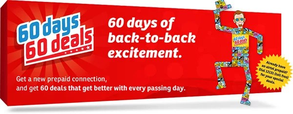 Airtel offers 60 Days 60 Deals for all new Prepaid Connection