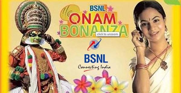 BSNL Extra Talktime Offer during Onam festival season under 2G & 3G mobile Services
