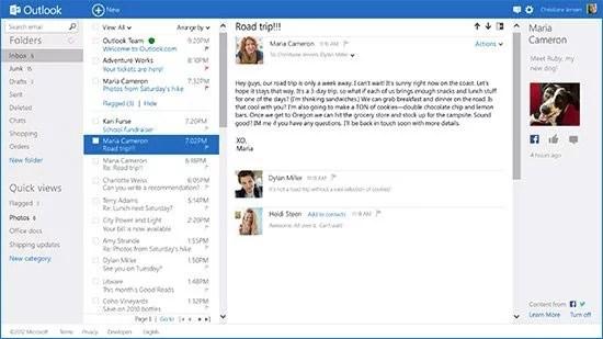 Outlook.com Preview Inbox