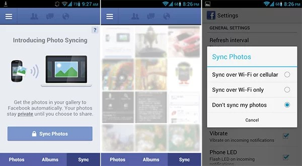 Facebook Photo Syncing on Android