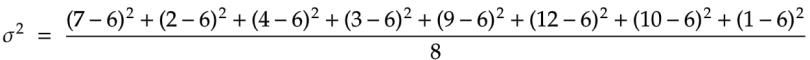 variance calculation