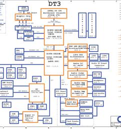 the motherboard schematicfor acer aspire 1710 laptop notebook cpu intel p4 cpu northwood prescott north bridge intel 82865g gmch south bridge intel  [ 1738 x 1225 Pixel ]
