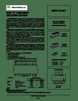 Datasheet Ic 7447 : datasheet, Datasheet, Motorola, Freescale