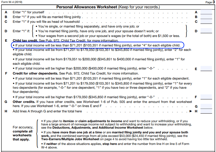 W 4 Changes   Allowances vs. Credits   Datatech