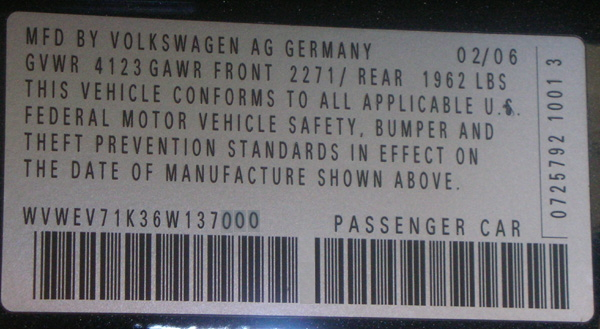 Volkswagen Fuse Color