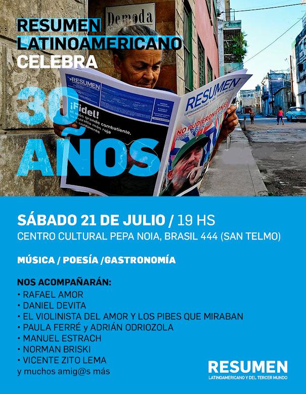 30 años de Resumen Latinoamericano