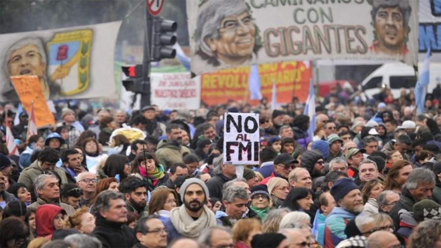 Protestas en Buenos Aires - 9 de Julio