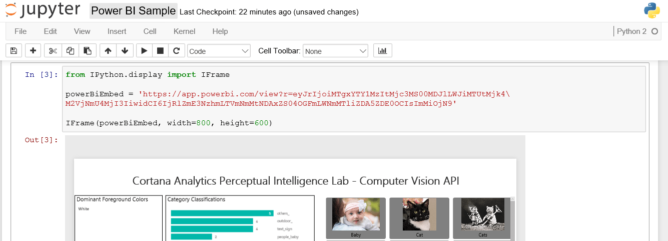 Embed a Live Microsoft Power BI Report in Jupyter