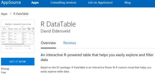 "Introducing ""R DataTable"" Custom Visual for Power BI"