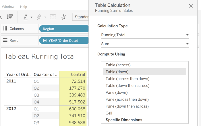 Tableau to Power BI: Running Total and Other Running Calculations