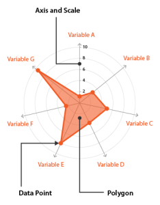 Anatomy radar chart also charts learn about this and tools to create it rh datavizcatalogue