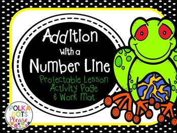 Addition Using a Number Line Projectable Lesson and Practice Page