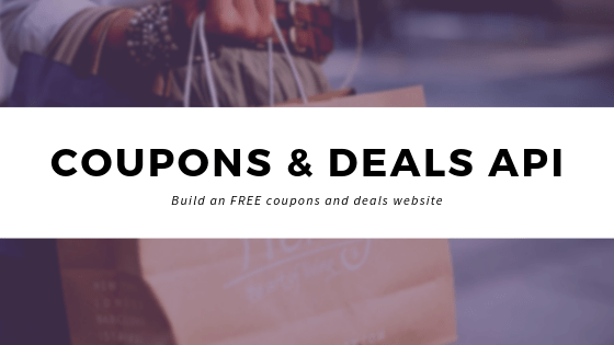 How to build a coupons & deals website using Coupon Code API