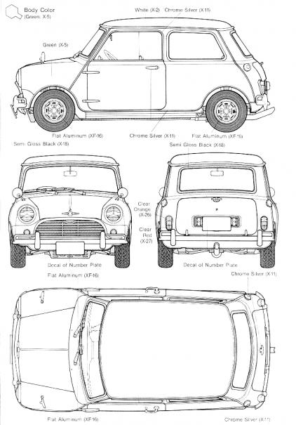 schema moteur austin mini