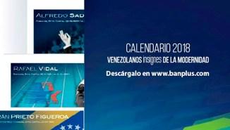 Diego Ricol - Calendario Banplus 2018 - Venezolanos Insignes de la Modernidad