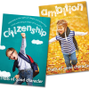 Education posters with the character qualities citizenship and ambition.