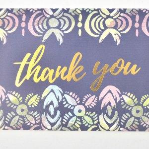 Geometric thank you card.