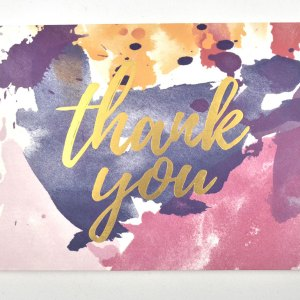 Watercolor thank you card.