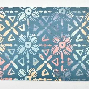 Geometric thank you card back.