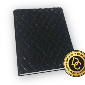Quilted leather journal.