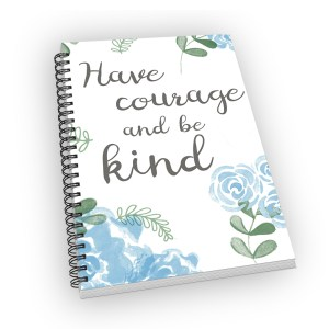 Small-sized spiral-bound notebook with a blue rose bloom cover.