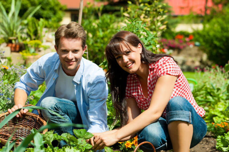 Image result for couples gardening together
