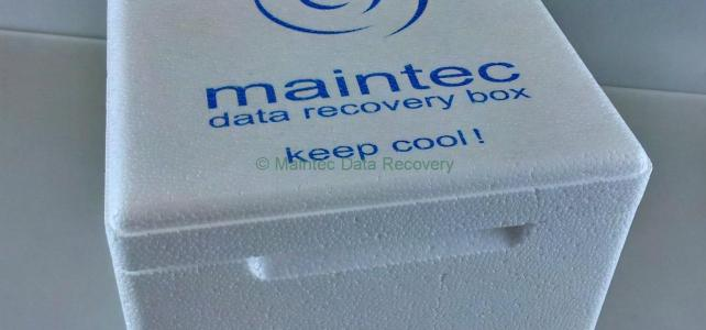 Nach der Datenrettung. Maintec Data Recovery Box.