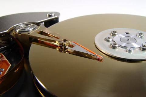 Festplatte - hochpräzises, mechanisches Teil