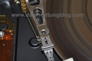 IBM DTLA nach Headcrash, Bild 2.