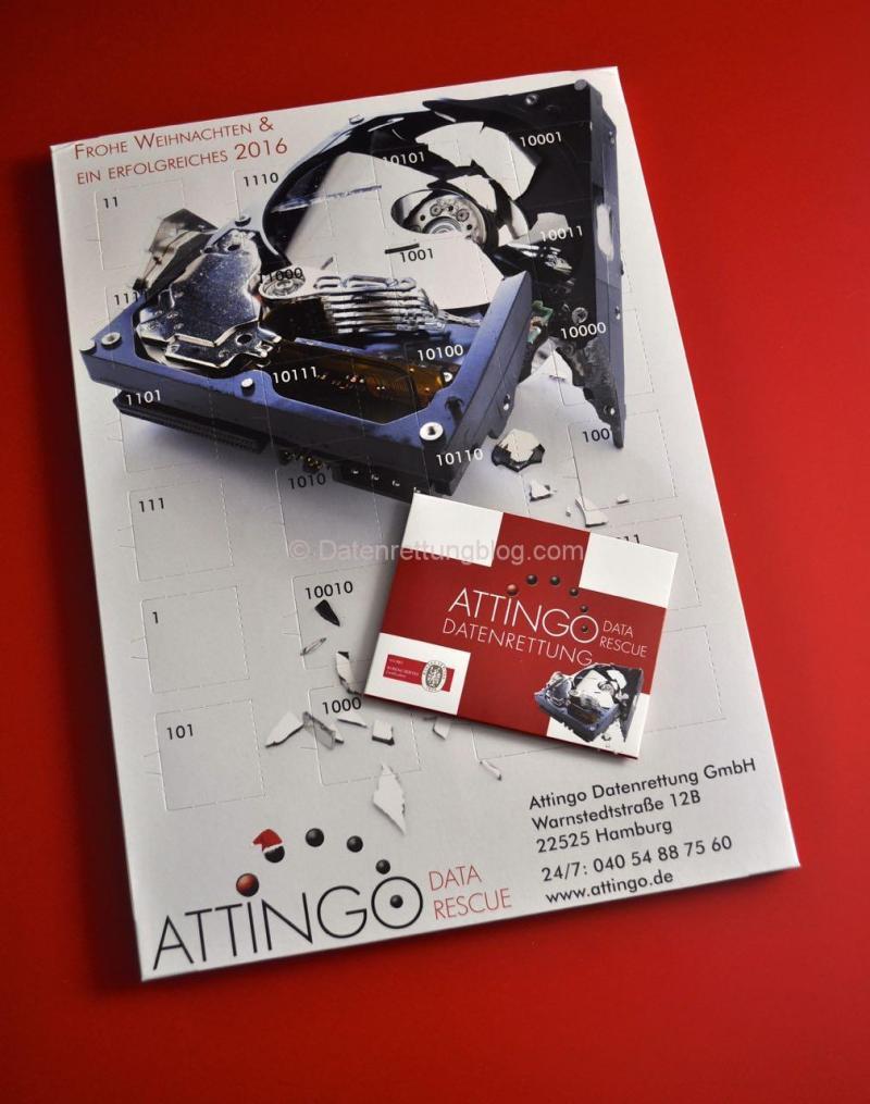 Attingo Datenrettung - das war im Paket!