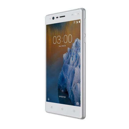 Das neue Nokia 3 im Farbton Silber. Quelle: HMD