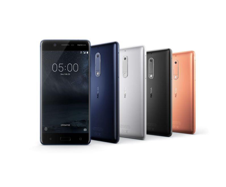 Die neue Nokia 5 Produktfamilie. Quelle: HMD