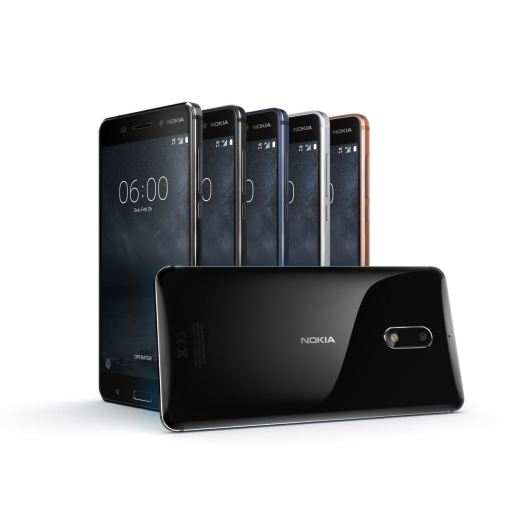 Die neue Nokia 6 Produktfamilie. Quelle: HMD