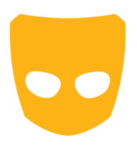 Grindr's dating app logo.