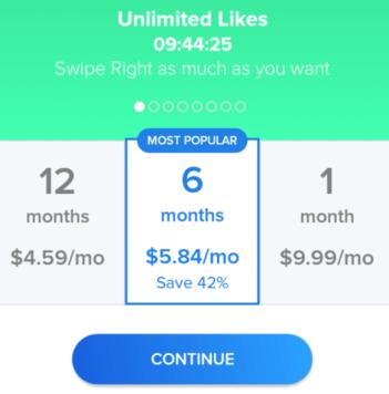 tinder unlimited likes 2018