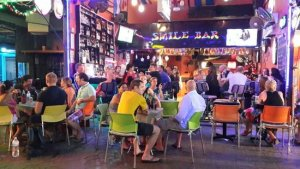 busy nightlife in Phitsanulok, thailand