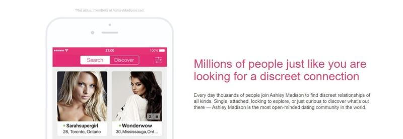 Millions of people search a partner - ashley madison