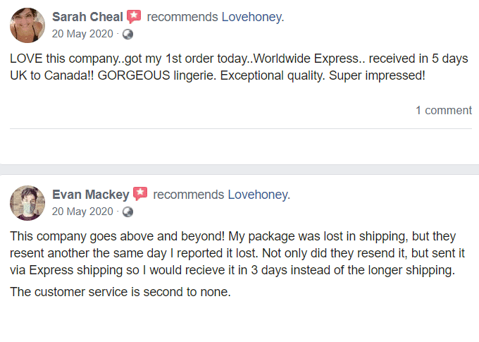 Lovehoney Testimonials