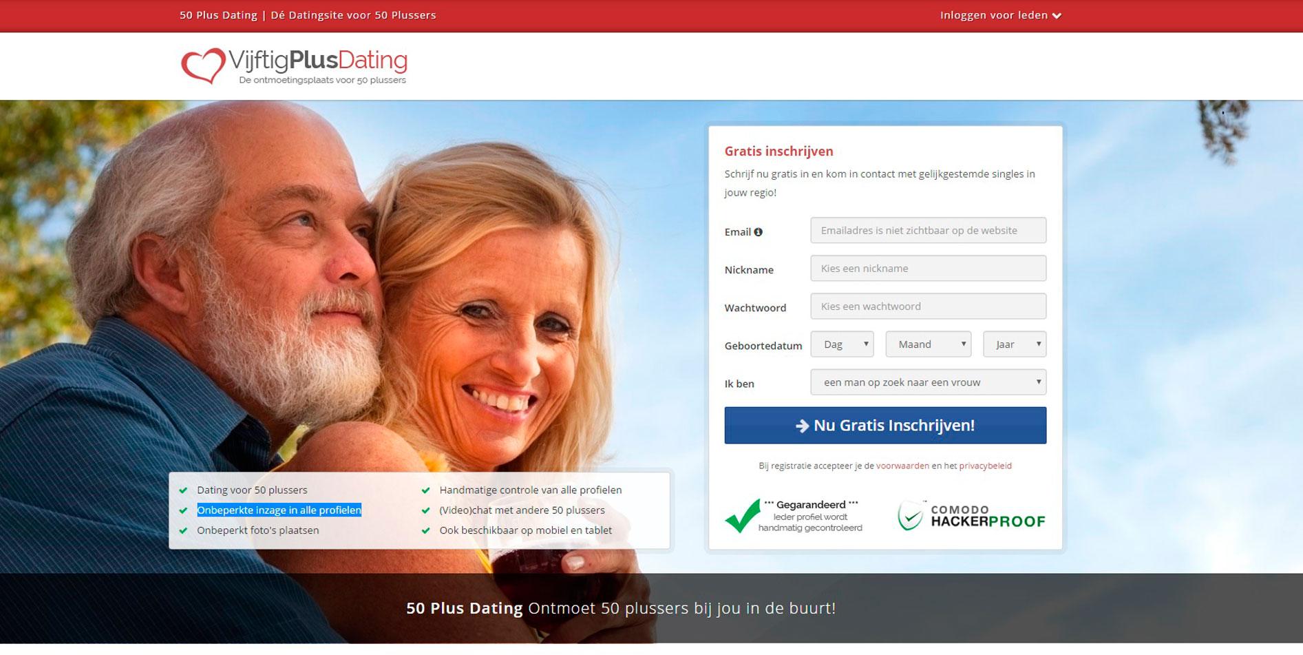 Vijftigplusdating Review, Klachten & Kosten | Datingsite-Vergelijken.Nl