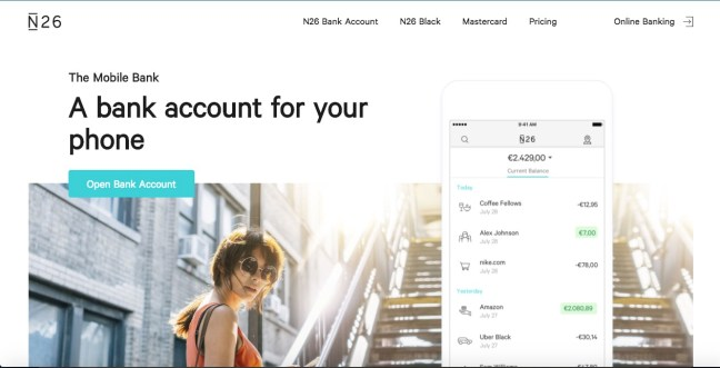 n26 online payment services bank