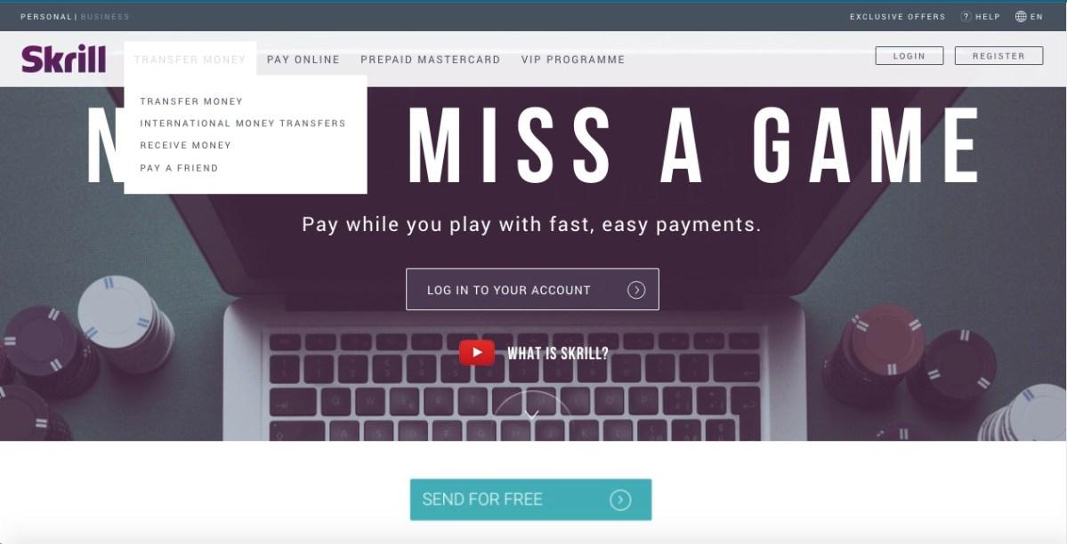 skrill internet payment methods