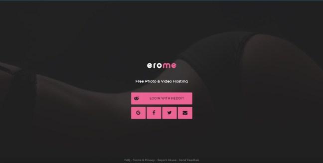 erome login page