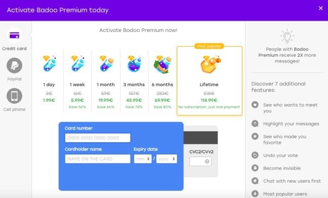 badoo coin upgrade costs