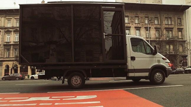 box sex truck outside